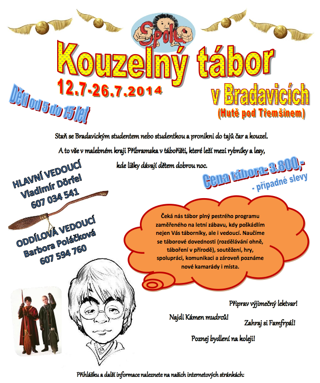 Letáček pro ročník 2014